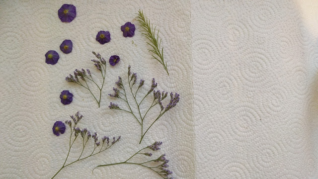 ייבוש פרחים וסידורם על משטח הייבוש