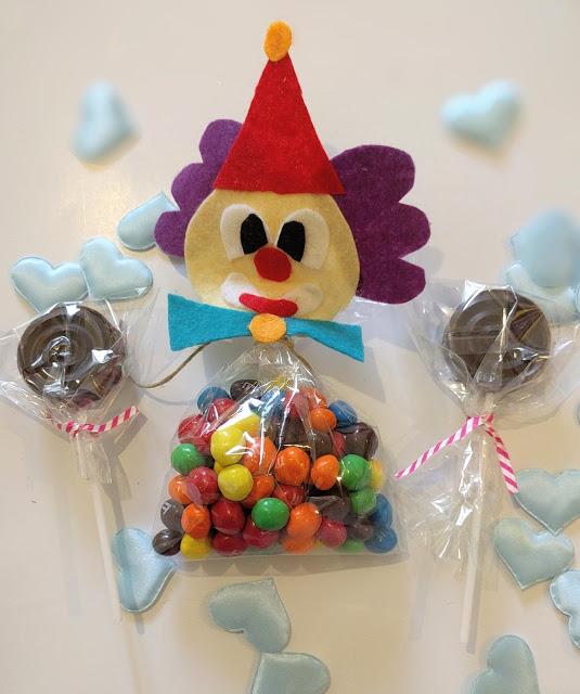 שקית ממתקים מקושטת למשחק גמד וענק