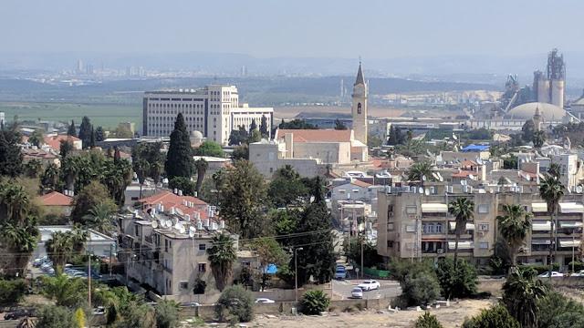 צילום מהמגדל הלבן בעיר העתיקה של רמלה - תצפית ממרפסת המגדל