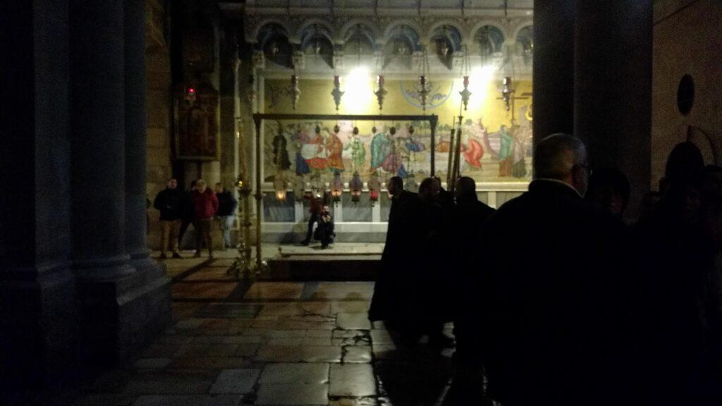 ירושלים שמתחת טקס סגירת הדלתות של כנסית הקבר